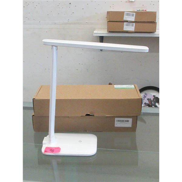 2 New LED Adjustable Brightness Desk Lamps