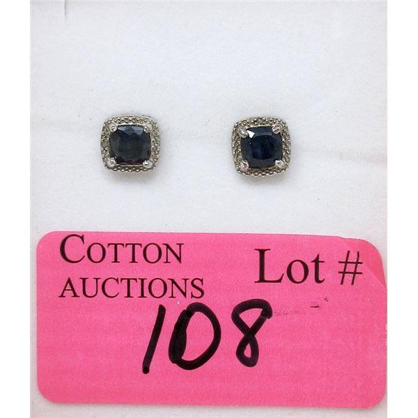 New Sapphire & Diamond Earrings
