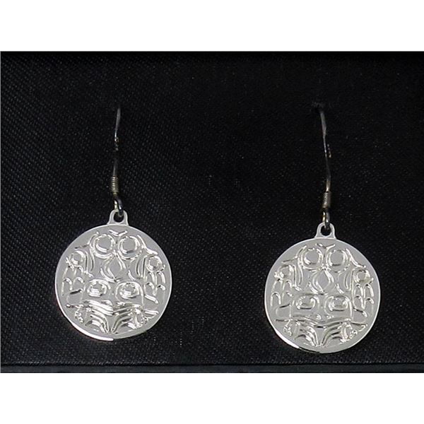 New Ryan Cranmer Silver Plated Frog Earrings