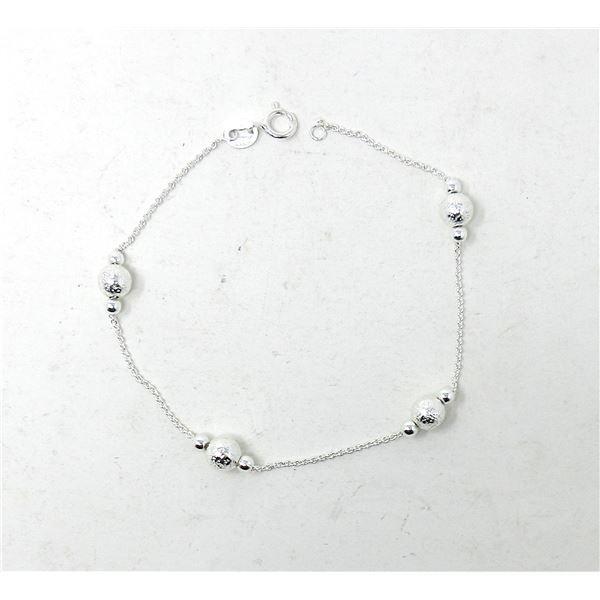 New .925 Silver Ball Design Bracelet