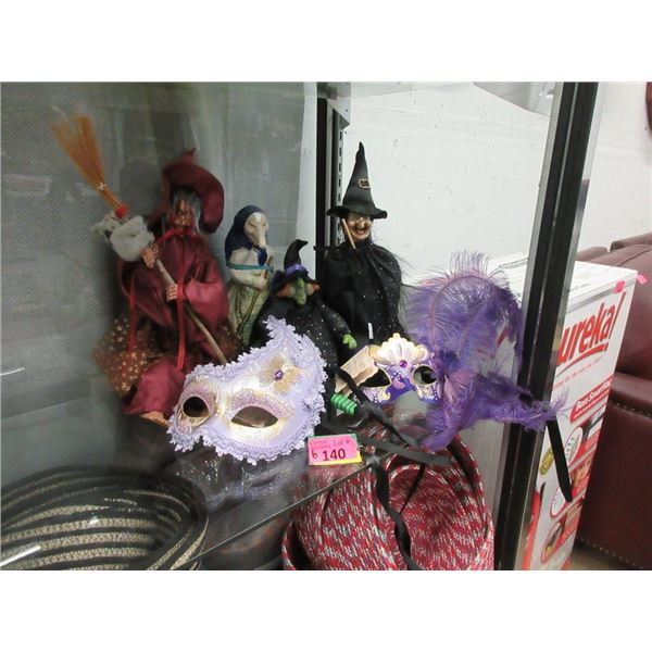 4 Witches and 2 Masquerade Face Masks