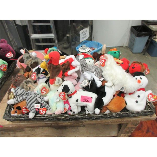 30 Assorted TY Beanie Babies with Tags Attached