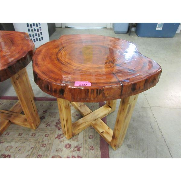 Hand Crafted Solid Wood End Table