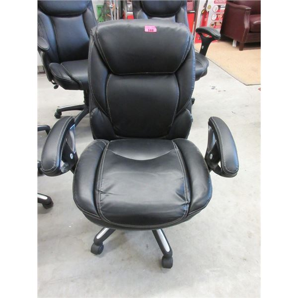 Black Bonded Leather Office Chair