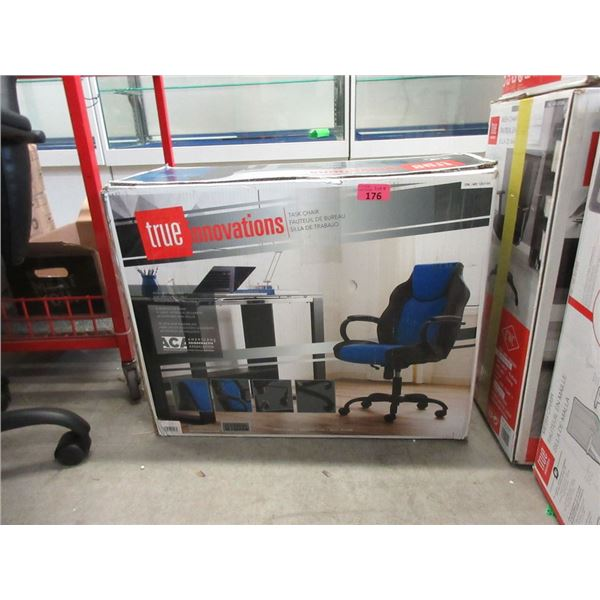 True Innovations Black and Blue  Office Chair