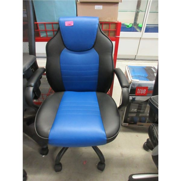 Black and Blue Office Chair