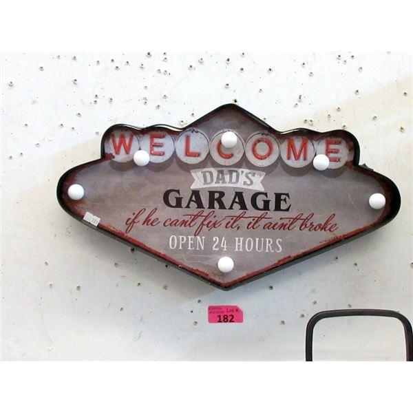 New Illuminated Dad's Garage Sign