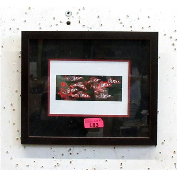 Richard Shorty Framed Print - Follow Me Salmon