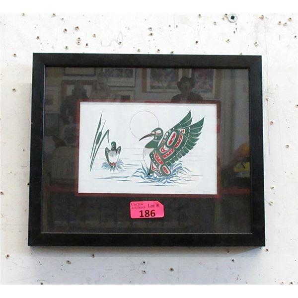 Richard Shorty Framed Print - Loon Mates