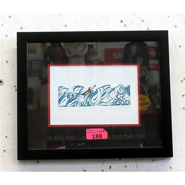 Richard Shorty Framed Print - Water Design