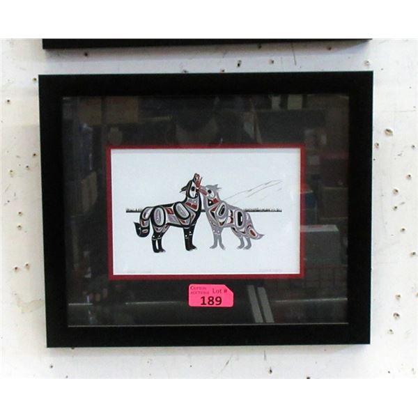 Richard Shorty Framed Print - Wolves United