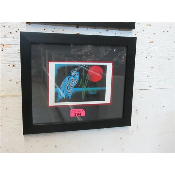 Richard Shorty Framed Print - Night Heron