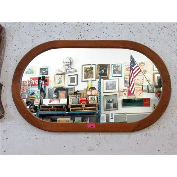 "Large Wood Framed Wall Mirror - 43"" x 26 """
