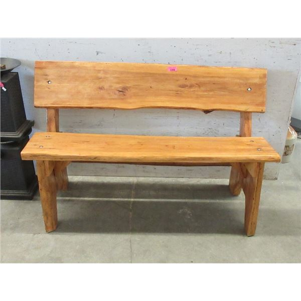 Hand Crafted Solid Wood Bench - 4 Feet Long