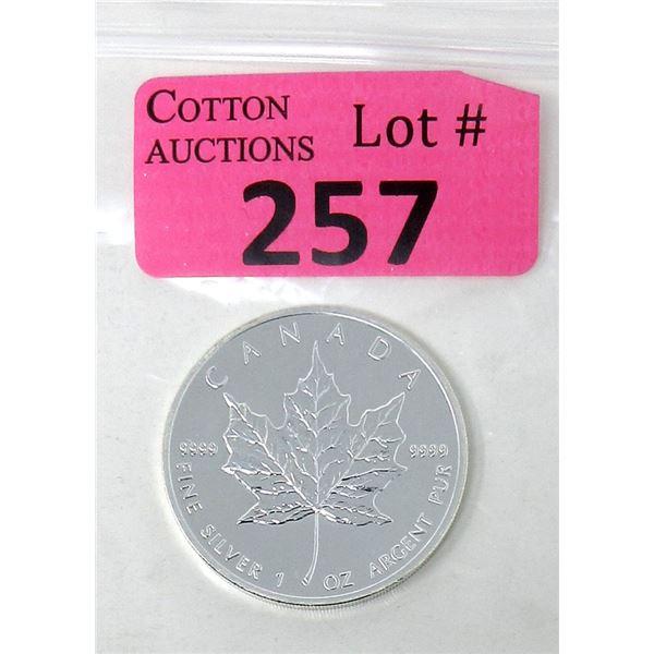 1 Oz. 2005 Canada .9999 Silver Maple Leaf Coin