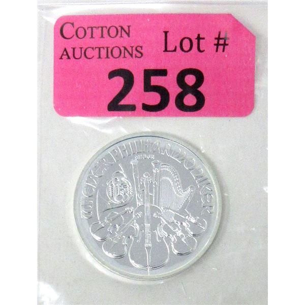 1 Oz. 2021 Wiener Philharmoniker .999 Silver Coin