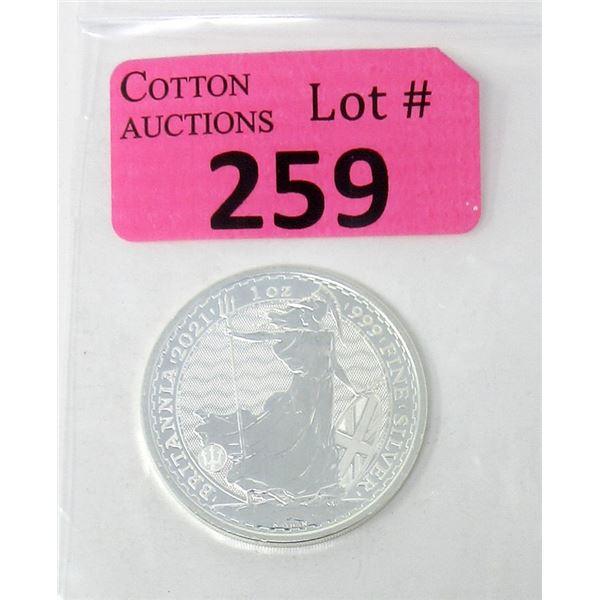 1Oz. 2021Britannia .999 Silver Coin