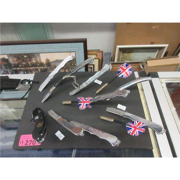 10 Pocket Knives and 3 Darts