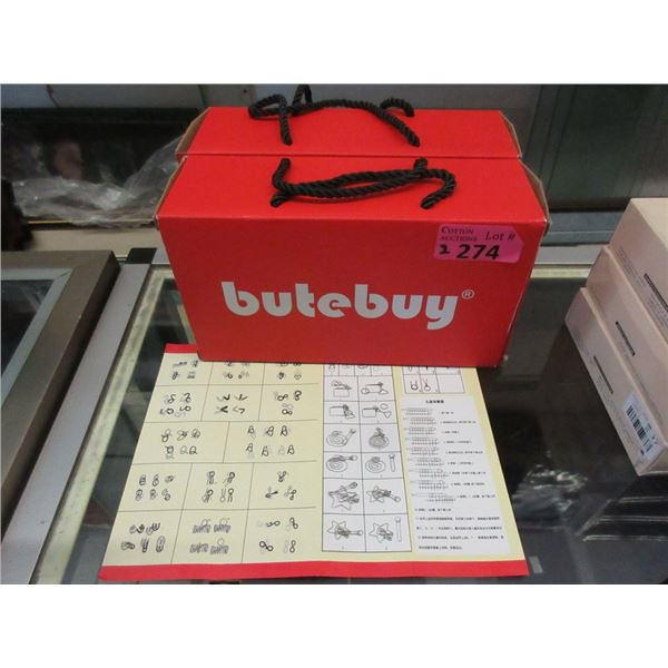 2 New Butebuy 20 Piece Metal Puzzles Sets