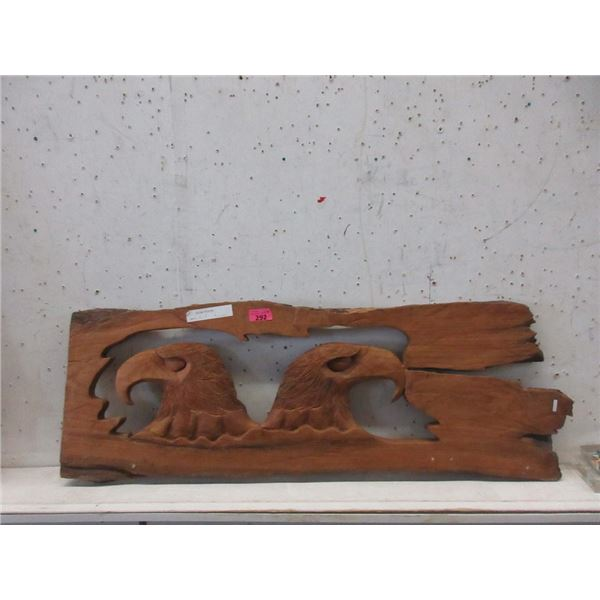 """Carved Teak Root Eagle Wall Art - 45"""" x 16"""""""
