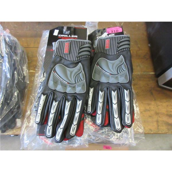 6 Pairs of XL Bob Dale Driller Gloves
