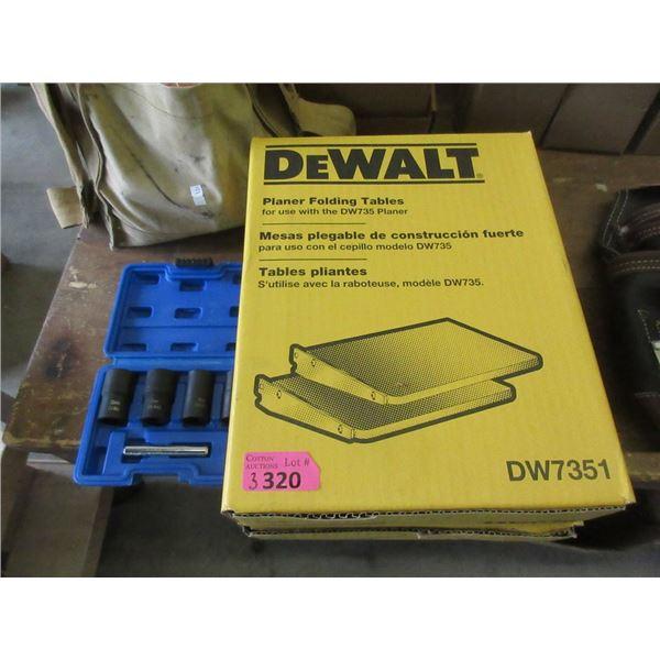 Socket Set & 2 DeWalt Planer Folding Tables
