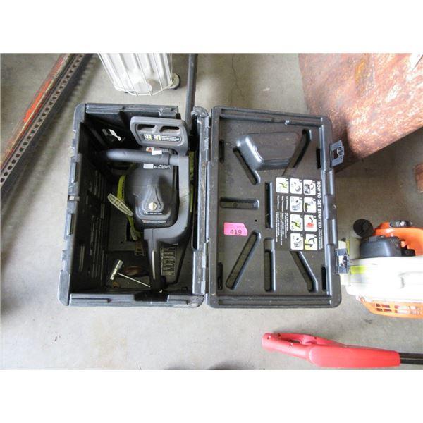 Ryobi Gas Chainsaw in Case