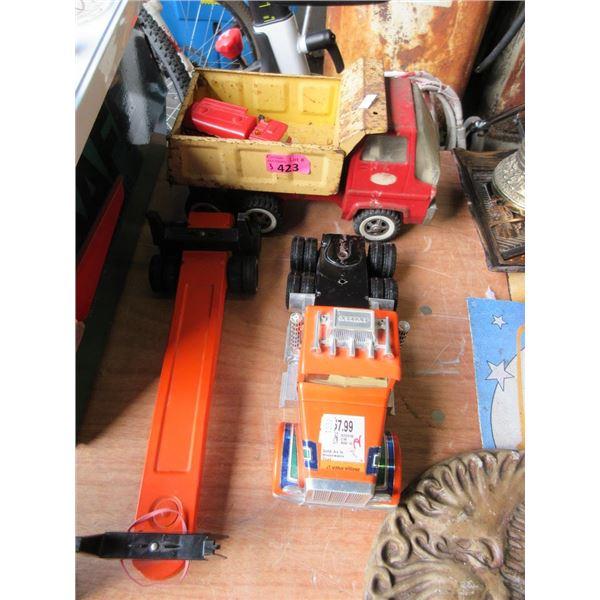 3 Metal Toy Trucks