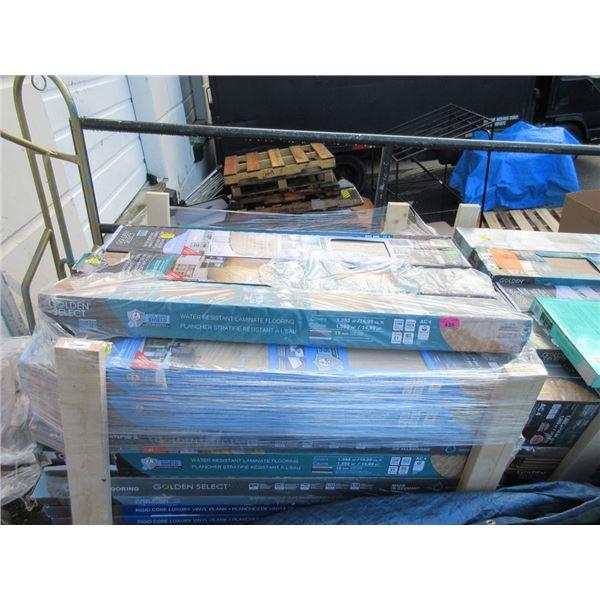 Skid of Assorted Laminate Flooring