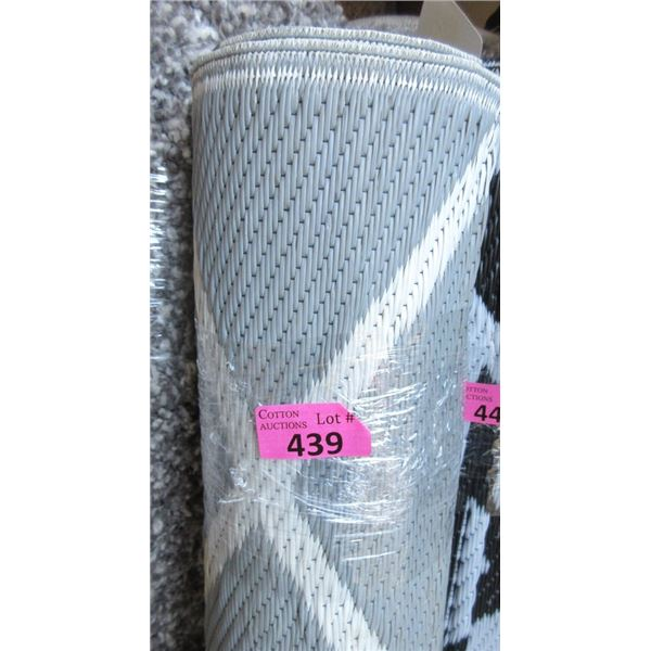 5' x 7' Grey Patterned Outdoor Patio Mat