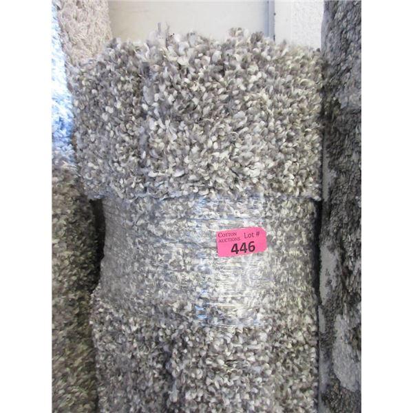 5' x 7' Grey Speckled Shag Area Carpet