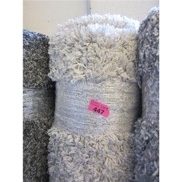 5' x 7' Ivory Shag Area Carpet