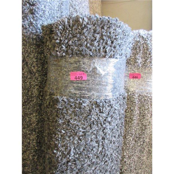 5' x 7' Dark Grey Shag Area Carpet