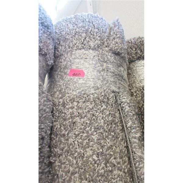8' x 10' Grey Speckled Shag Area Carpet