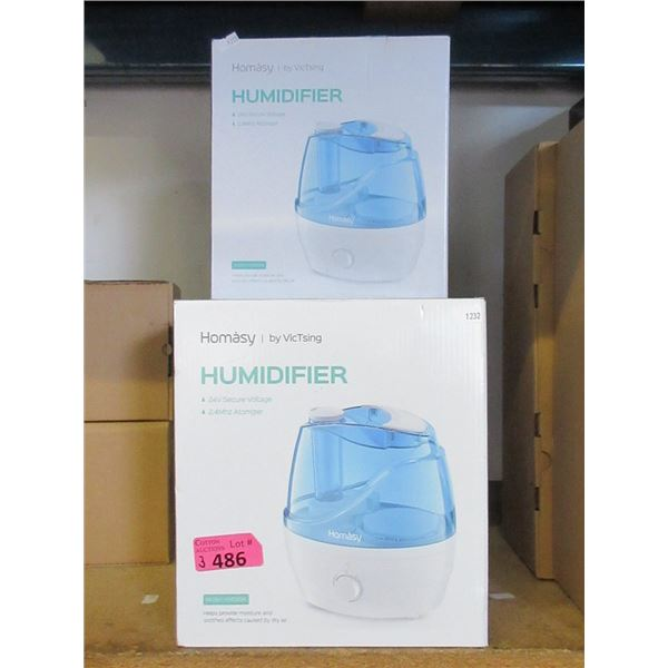 3 Homasy 2.2 Liter Humidifiers