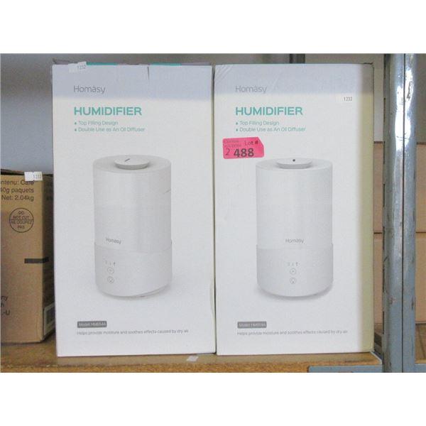 2 Homasy 4 Liter Humidifier / Diffusers