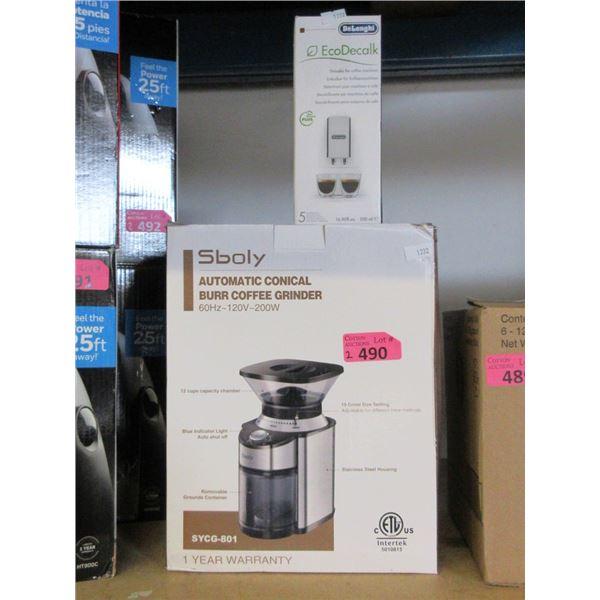 Sboly Burr Coffee Grinder & Machine Descaler