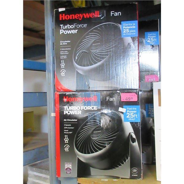 "2 Honeywell 11"" Electric Fans"