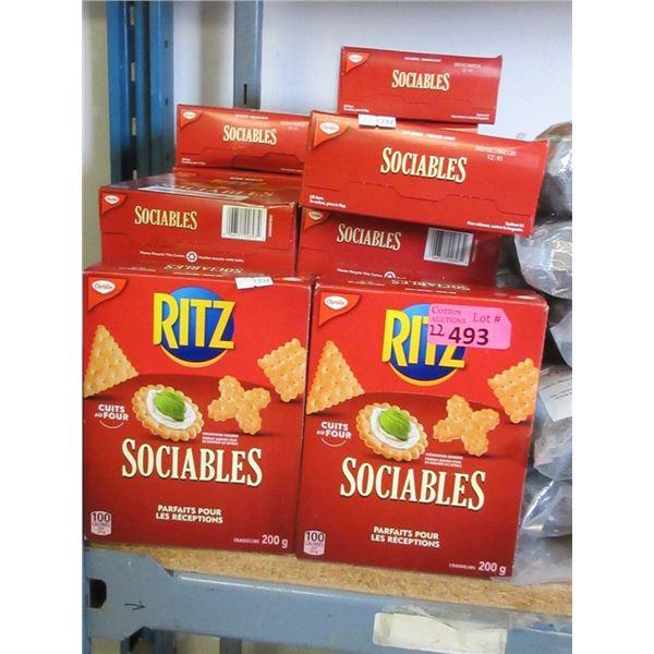22 x 200 g Boxes of Ritz Sociables Crackers