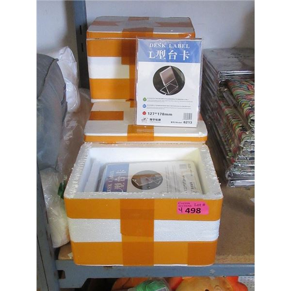 4 Boxes of 6 Acrylic 127 x 178 mm Display Stands