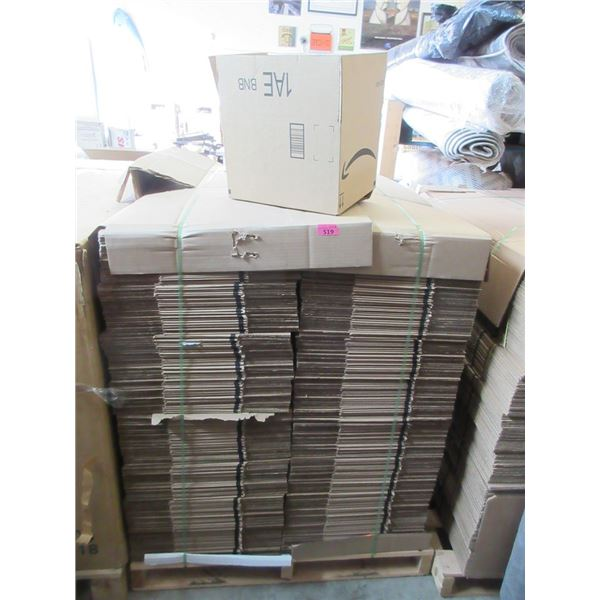 Skid of New Cardboard Shipping Boxes