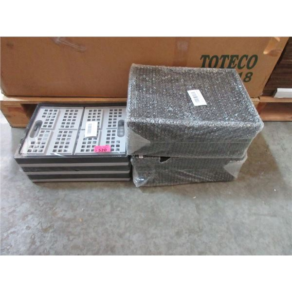 3 Packages of 4 Collapsible Crates