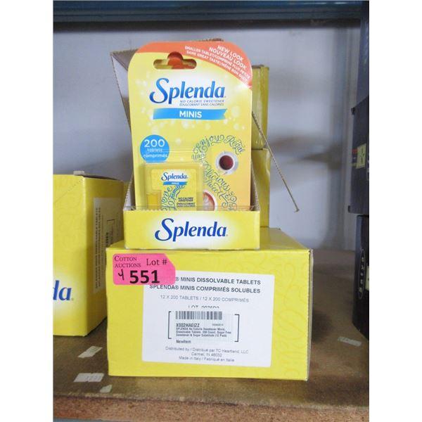 4 Boxes of Splenda Minis Dissolvable Tabs