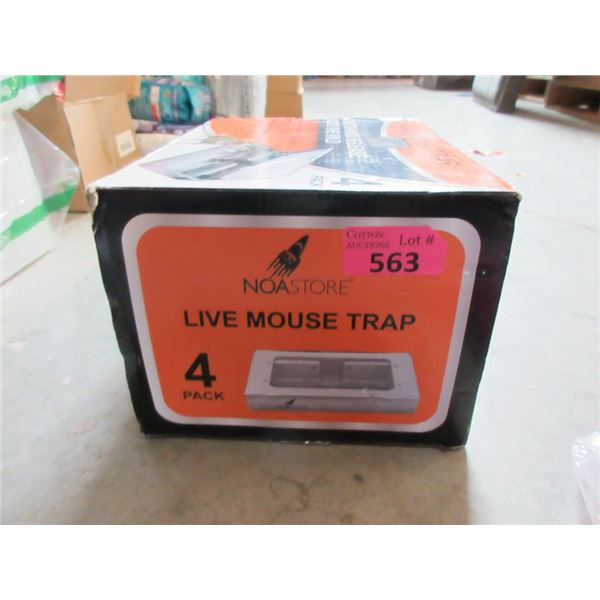 Box of 4  Live Mouse Traps