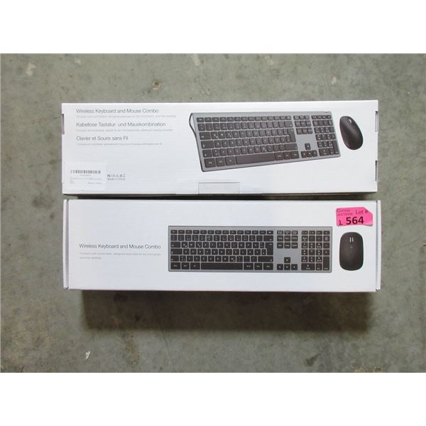 2 Wireless Keyboard  & Mouse Combos