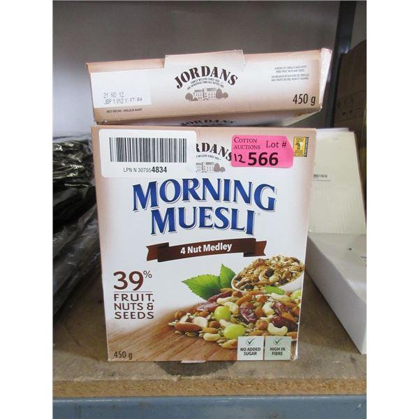 12 x 450 g Boxes of Jordans Morning Muesli Cereal