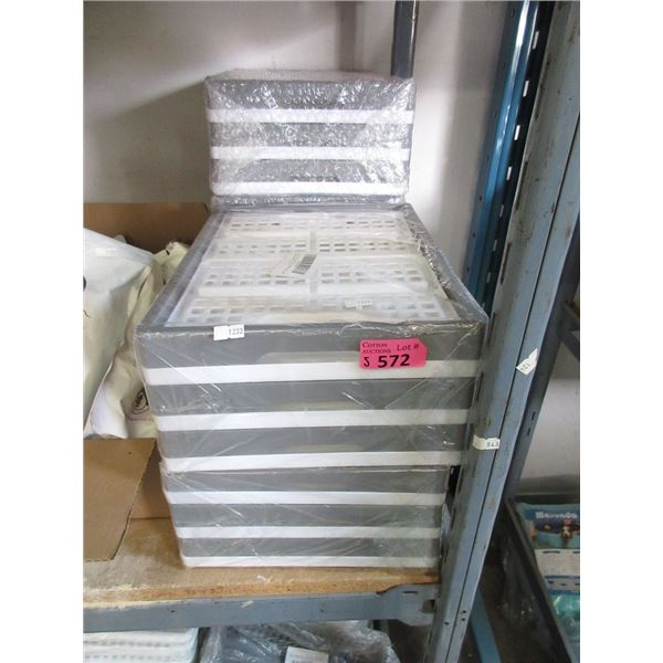 """5 Sets of 3 Collapsible Crates - 10"""" x 14"""" x"""""""