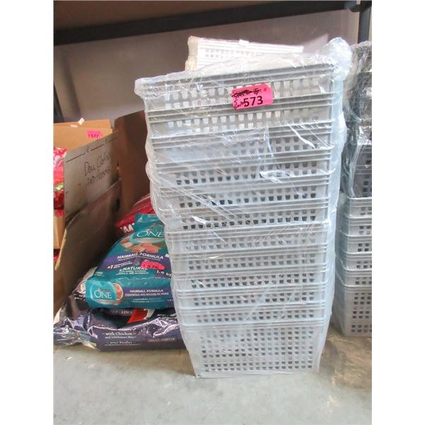 5 Stacks of Small Organizer Baskets