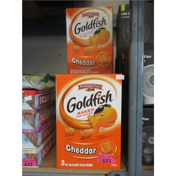 3 x 1.64 kg  Cases of Cheddar Baked Goldfish