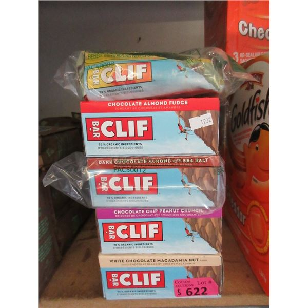 5 Boxes of Assorted Clif Bars